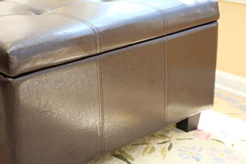 Home Life Storage Coffee Ottoman Dark Brown Espresso Black – Lift Top Bench