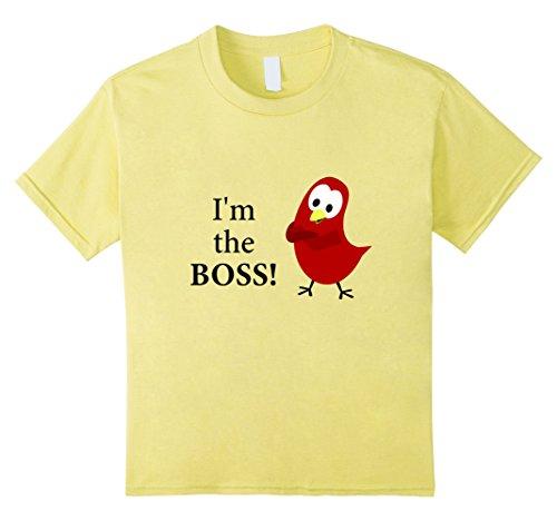Boss Birds (Kids The Official Sammy Bird - I'm the BOSS! T-Shirt 12 Lemon)