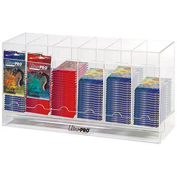 Clear Ultra Pro 6 Slot Pack Dispenser High Acrylic Card Pack Storage & Dispenser