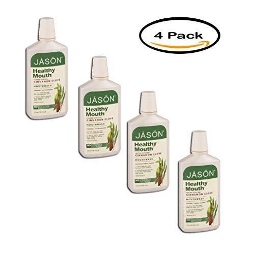 PACK OF 4 - Jason Healthy Mouth Mouthwash Tartar Control Cinnamon Clove, 16.0 FL OZ
