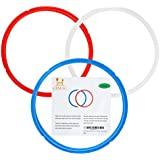 3PCS Instant Pot Silicone Sealing Ring 5qt / 6qt Sweet and Savory Edition for IP DUO-80 - 3 Pack (5qt / 6qt, Blue/Red/Clear)