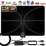 TV Antenna, Indoor Amplified HD Digital TV Antenna 160 Miles Range -HDTV Amplifier Signal Booster 4K HD Local Channels Support 4K 1080p Fire tv Stick and All Television -17ft Coax Cable