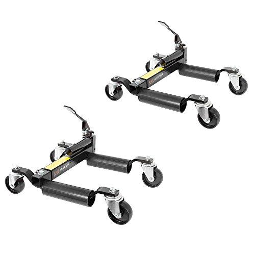 Rage Powersports 2-Pack Hydraulic Vehicle Positioning Jack & Wheel Dolly