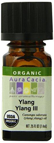 (Aura Cacia Organic Essential Oil, Ylang Ylang, 0.25 Fluid Ounce)