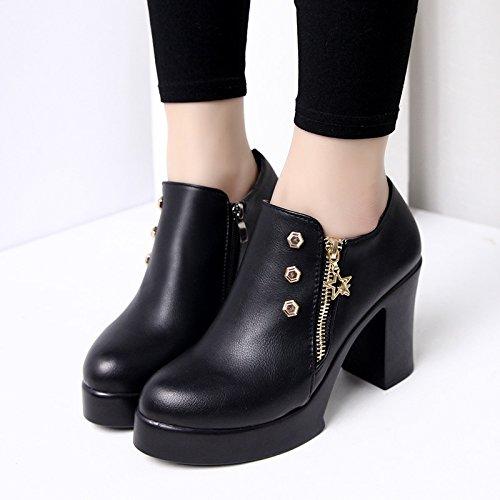 AGECC Frauen Stiefel Bequeme Schöne Durable Raue Fersen Weibliche  Allgleiches Schuhe Schuhe Mit SAMT Schuhe Zwei Weibliche