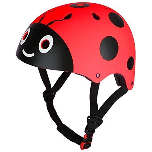 Bestevery Childrens Riding Protective Helmet Lightweight Cute Ladybug Child Skating Helmet Cycling Bike Safety Crash…