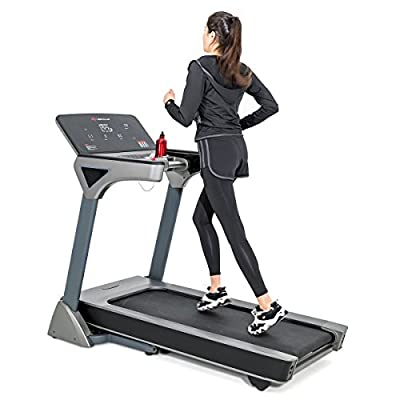 Goplus 3HP Folding Treadmill Electric Incline Running Jogging Fitness Machine with Large LED Touch Screen & Bluetooth Speaker