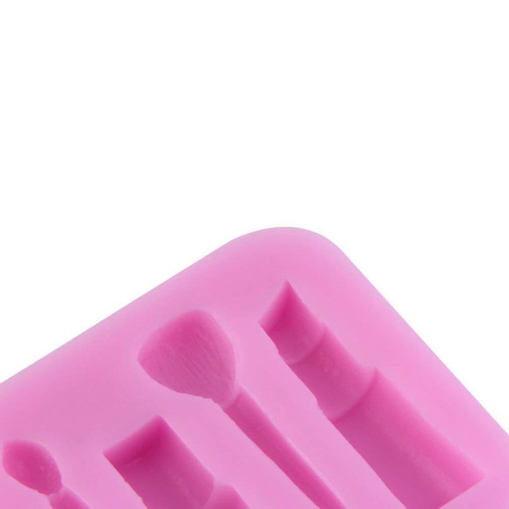 Emily Silicone 3D Outils De Maquillage Conception Fondant Moules /À G/âteau Chocolat Moule D/écoration Rose