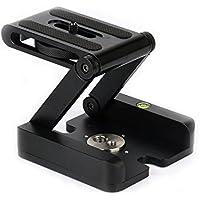 Harwerrel Aluminum Alloy Folding Z Flex Tilt Head Desktop Stand Holder Quick Release Plate For DSLR Camera Camcorder Tripod