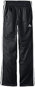 adidas Big Boys' Designator Pant, Black/White, X-Large