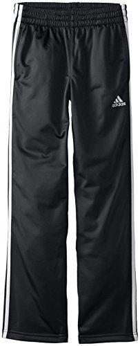 adidas Big Boys' Designator Pant, Black/White, Large