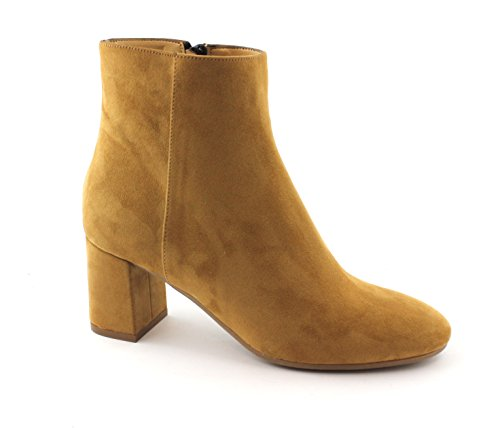 Leather Ankle Heel Brown Woman Divine Boots Boots 4011 Ankle Zip Follie Marrone qwt7nHaxg