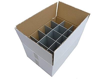 Cajas de cartón cristalería - 2 unidades | Cristalería de transporte | Fuerte - caja de