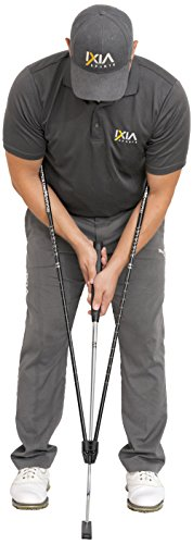 IXIA Sports True Pendulum Motion Golf Putting Trainer - Fits Any Putter - Detachable, Adjustable Length Alignment Rods - Promotes Perfect Posture - For ALL Levels, Juniors & Adult by IXIA Sports