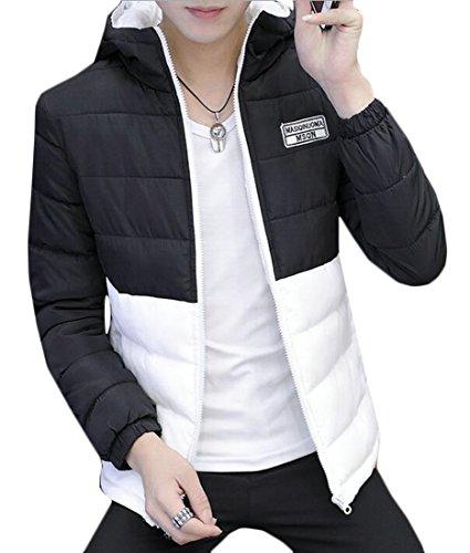 Di Oggi Uomini Colorblock Cappuccio Degli Rivestimento Cappotto Puffer Con 4 Outwear Calda uk qzpggw