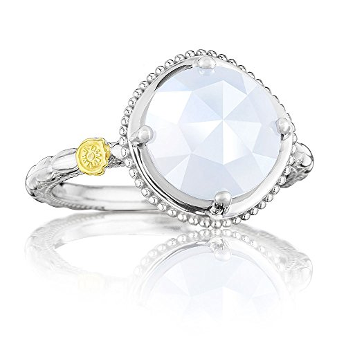 Tacori SR13503 Classic Rock Sterling Silver Chalcedony Bold Simply Gem Ring, Size 6 by Tacori