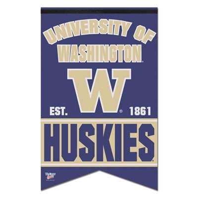 NCAA University of Washington WCR92638010 Premium Felt Banner, 17'' x 26'' by WinCraft