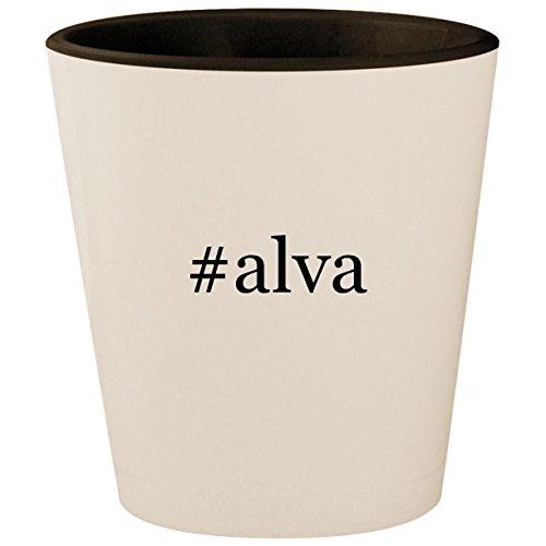 (#alva - Hashtag White Outer & Black Inner Ceramic 1.5oz Shot Glass)