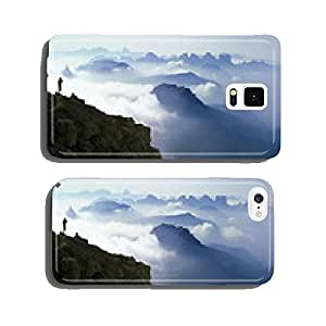 Climber photographing breathtaking mountain panorama cell phone cover case iPhone6
