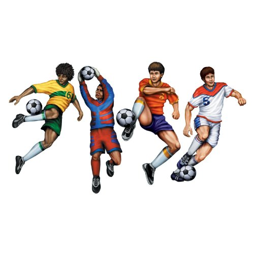 Beistle 4-Pack Packaged Soccer Cutouts, 20-Inch (Soccer Player Costumes)