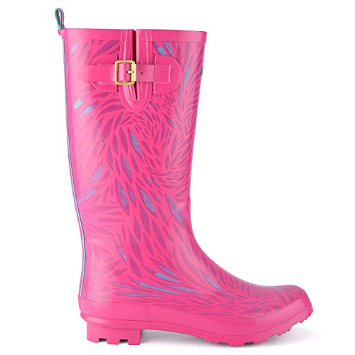 Mesdames pour femme Urban Beach Festival Rose Carnaby Wolf Bottes FW819Taille 3–8