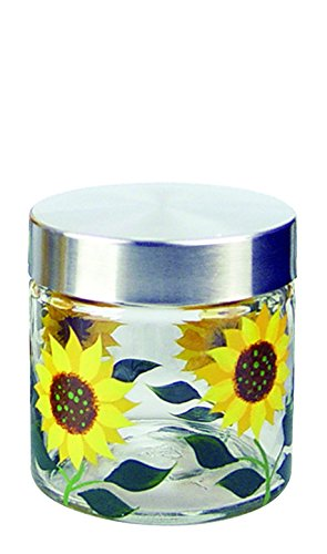 Grant Howard 28 Ounce Sunflower Glass Storage Jar ()