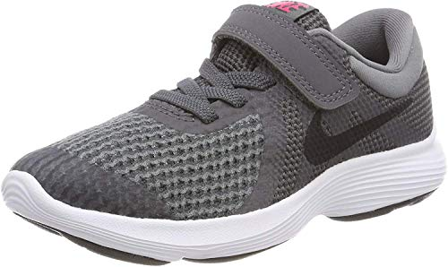 Nike Boys' Revolution 4 (PSV) Running Shoe, Dark Grey/Black - Cool Grey - White, 12C Regular US Little Kid (Shoes Kids Free Nike)