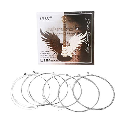 Susie-Smile - 6pcs E104 Electric Guitar Strings 008-038 Plated Steel Core Nickel Alloy Wound ()