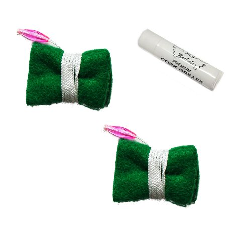 Clarinet Cleaning Swab Pack, 2 Green Felt Clarinet Cleaning Cloths + BONUS Cork Grease Clarinet_Cleaning_Swab_Packs Clarinet Cleaning Swabs