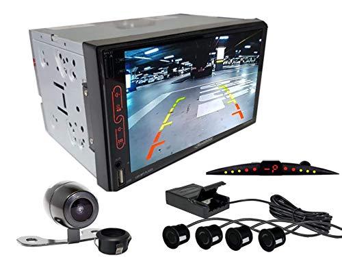 Multimidia Mp7 RS-707MP7 Com Câmera De Ré RS-121BR E Sensor De Estacionamento RS-204BR PRETO
