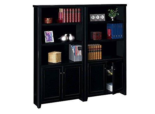 - Tribeca Loft Black 10 Shelf Bookcase with Doors Set - 70