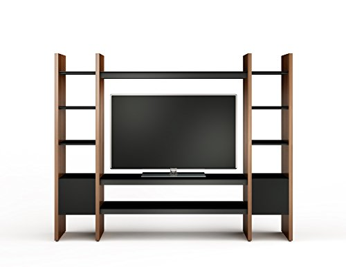 BDI 23-TC Three Section Media System (Chocolate Stained Walnut/Black)