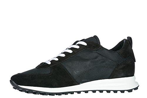 Dsquared2 Herrenschuhe Herren Wildleder Sneakers Schuhe New Runner Hiking Schwar