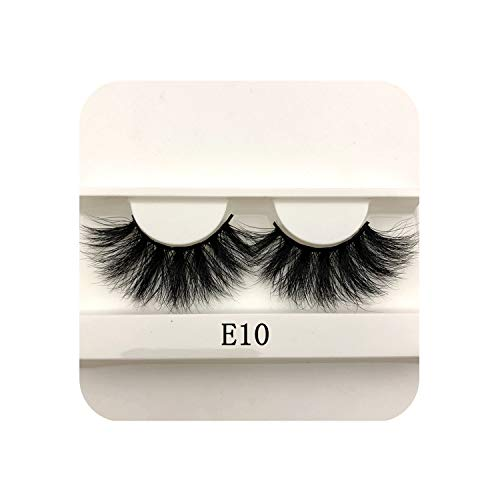 Nice warm 25Mm Long 3D Mink Lashes E01 Extra Length Mink Eyelashes Big Dramatic Volumn Eyelashes Strip Thick False Eyelash,C,E10