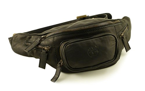 leather in Made Pouch in black bag Italy Timberland 001 M3020 Eqx8BCx