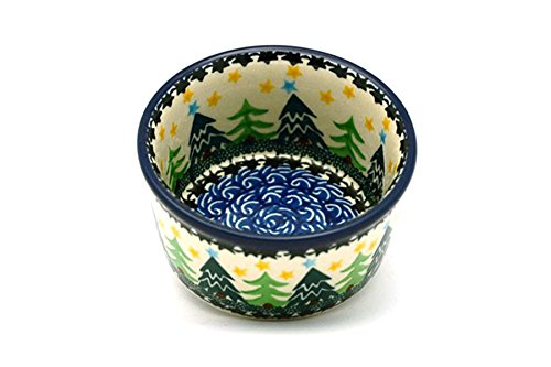 Polish Pottery Ramekin - Christmas Trees Ceramika Artystyczna 409-1284a