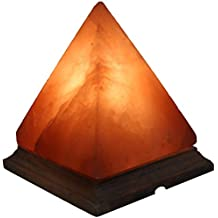 IndusClassic LG-01 Pyramid Himalayan Crystal Rock Salt Lamp Ionizer Air Purifier 5~8 lbs / UL Listed Cord and Dimmer Control Switch, Exceptional Quality Packaging
