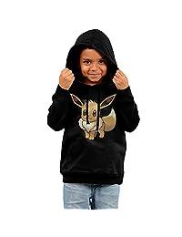 Little Boys Girls Eevee Pokemon Hooded Sweatshirt Black