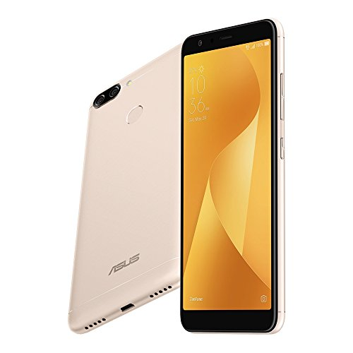ASUS ZenFone Max Plus (M1) ZB570TL 3GB / 32GB 5.7-inches Dual SIM Factory Unlocked - International Stock No Warranty (Sunlight Gold) (Otg Front Bumper)