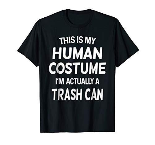 Trash Can Costume Shirt Trash Can Halloween Tshirt Idea