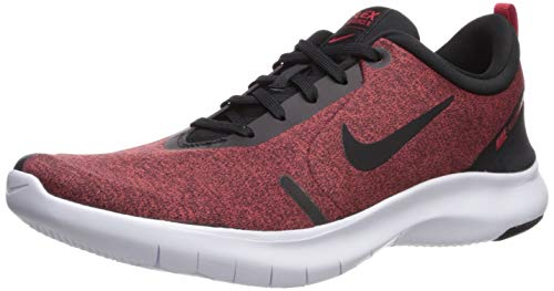 Nike Men's Flex Experience Run 8 Shoe, Black-University Red-White, 9.5 Regular US (Nike Flex Run 2015 Mens Running Shoes)