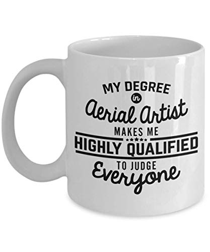Aerial Artist Coffee Mug Funny Aerial Silks Mug 11 Oz Ceramic Novelty Cup Gift Idea For Men Woman Boyfriend Girlfriend Best Friend Coworker -