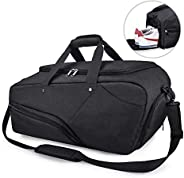 Sport Gym Bag Large Travel Duffel Bag with Shoe Compartment Wet Pocket Bag Waterproof Holdall Weekender Overnight Workout Fit