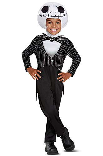 Disguise Jack Skellington Classic Toddler Child Costume, Black, Medium/(3T-4T)