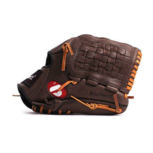 barnett competition infield baseball glove GL-120 genuine leather, infield 12', REG, brown (12' Baseball Glove Leather)