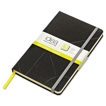 TOPS 56872 Journal, Wide Rule, 8-1/4''x5'', 120Shts, Black Cover/CM Shts