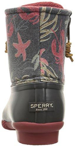 Sperry Top-Sider de impresiones de agua salada lluvia para mujer Dark Grey/Sea Creatures