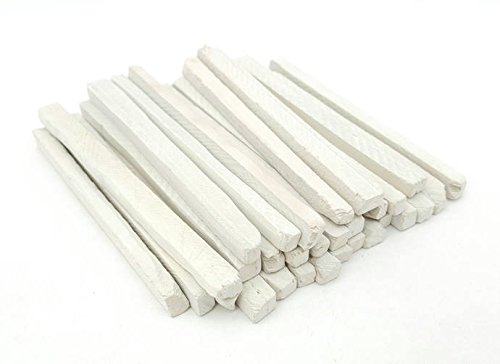 Slate Pencils Thick White Color Natural Stone (Pack Of 30pcs) by Write Your Dreams