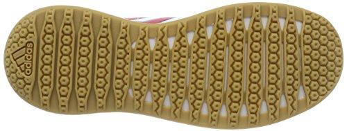 adidas Unisex-Kinder FortaGym K Turnschuhe Mehrfarbig (Enepnk/eneaqu/ftwwht Cg2681)