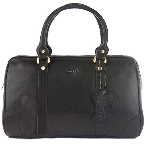 Bag Midi Leather Black Grab Gigi E1qxHpw
